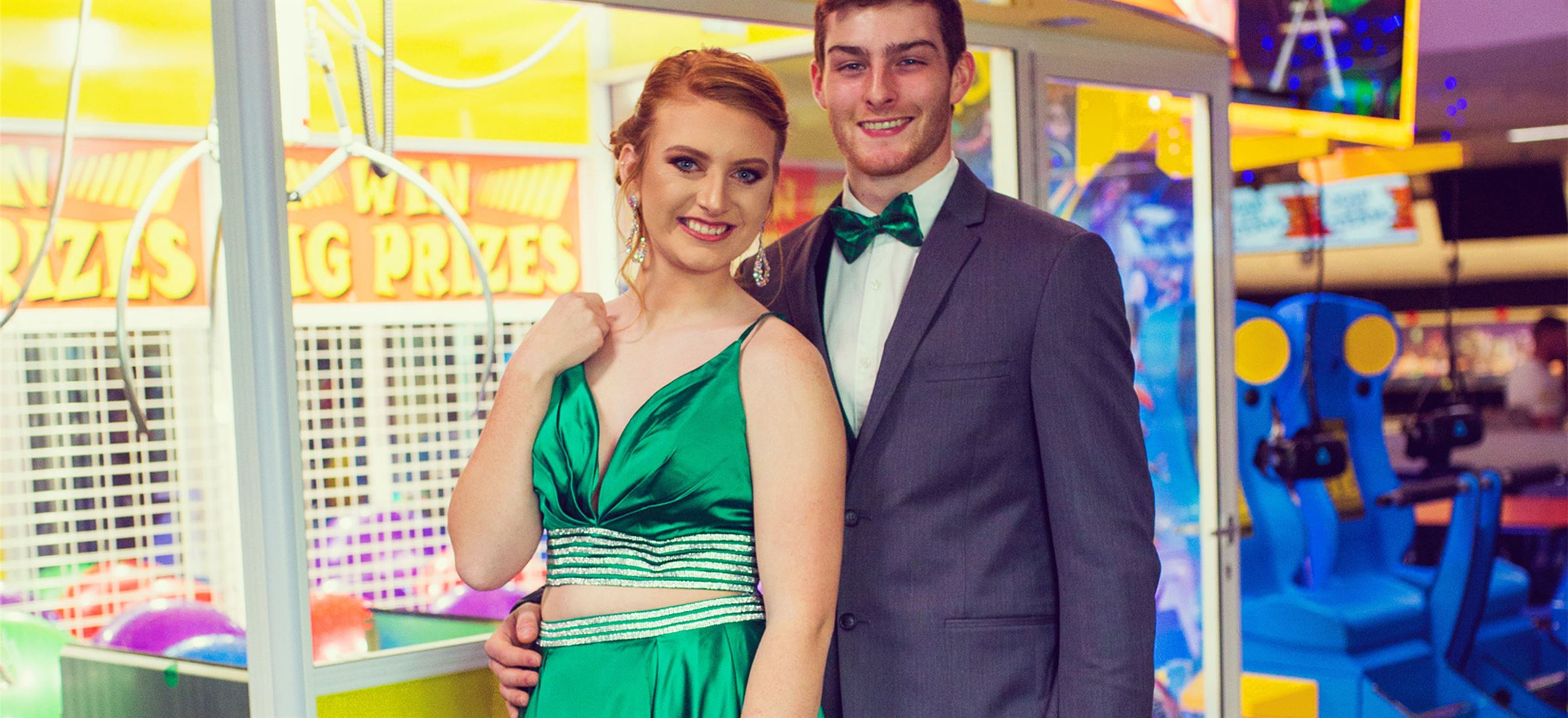 green two piece prom dress spring 2019 at k-town couture kearney nebraska